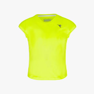 G. T-SHIRT TEAM, FLUO YELLOW DD, medium