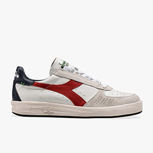 B.ELITE H LEATHER DIRTY, WHT/POMPEIAN RED/BLUE NIGHTS, medium