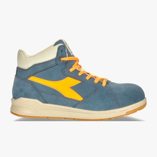 D-JUMP HI S3 SRC ESD, BLUE DENIM/ORANGE, medium