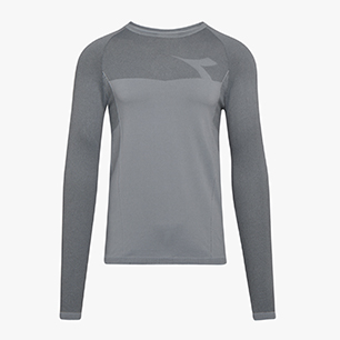 LS TECHFIT T-SHIRT, GREY ALASKA, medium
