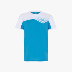 T-SHIRT COURT, BLEU FLUORESCENT, medium