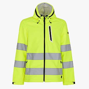 SOFTSHELL HV ISO 20471:2013 3RD CAT., FLUORESCENT YELLOW, medium