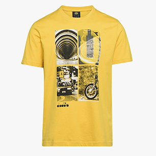 T-SHIRT GRAPHIC ORGANIC, SULPHUR, medium