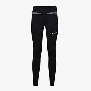 L. RUNNING TIGHTS, SCHWARZ, medium