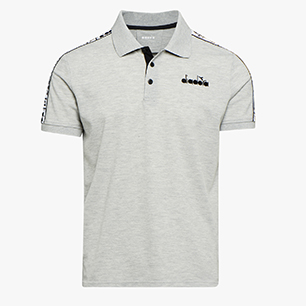 POLO STATEMENT SS, LIGHT MIDDLE GREY MELANGE , medium