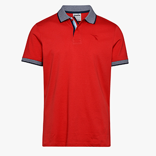 SS POLO CORE, DARK RED, medium