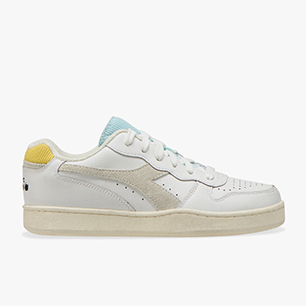 MI BASKET LOW ICONA WN, WHITE/GOLDFINCH/BLUE TINT, medium