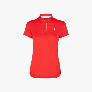 L. POLO COURT, TOMATO RED, medium