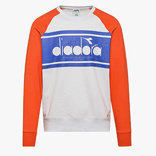 SWEATSHIRT CREW SPECTRA, ORANGEADE/WHITE MILK, medium
