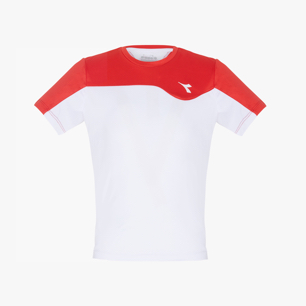 J. T-SHIRT TEAM, TOMATO RED, medium