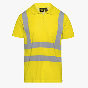 POLO MC HV ISO 20471, AMARILLO FLUORESCENTE, medium