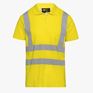 POLO MC HV ISO 20471, FLUORESCENT YELLOW, medium