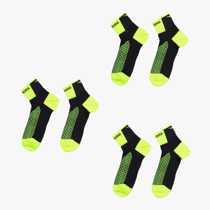 PRE PACK 3 SOCKS RACE, YELLOW, large