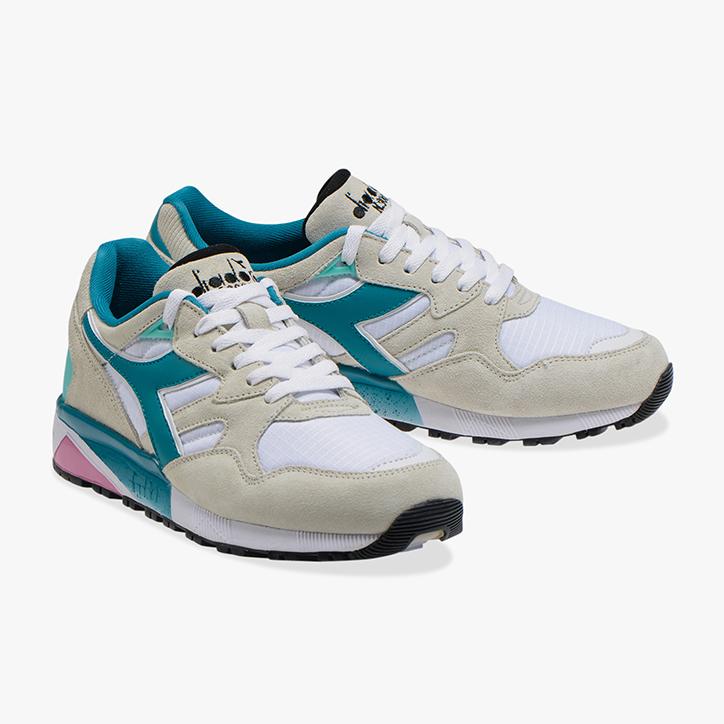 Diadora N9002 shoes blue white green