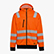 HOODIE ZIP HV ISO 20471, FLURESCENT ORANGE, swatch