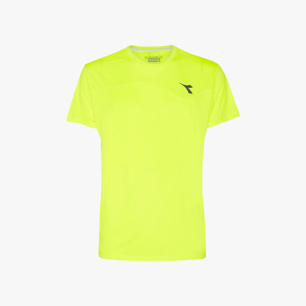 T-SHIRT TEAM, FLUO YELLOW DD, medium