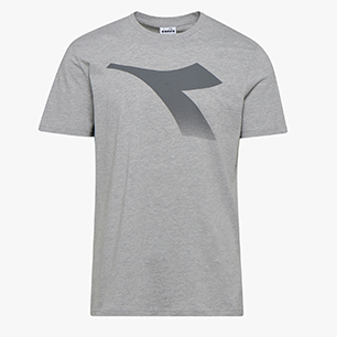 SS T-SHIRT FREGIO, LIGHT MIDDLE GREY MELANGE , medium