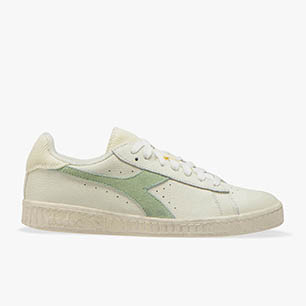GAME L LOW ICONA WN, WHITE/CELADON GREEN, medium