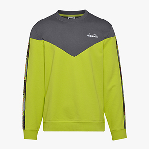 SWEATSHIRT CREW 5PALLE OFFSIDE V, LIME PUNCH, medium