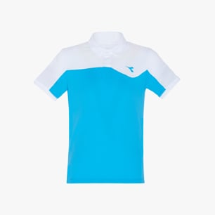J. POLO COURT, FLUO AZUL, medium