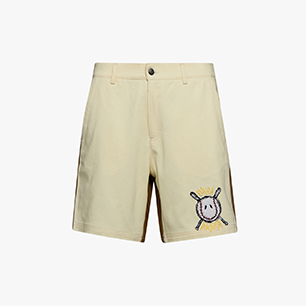 PAURA DOUBLE LOGO SHORT, WHITE, medium