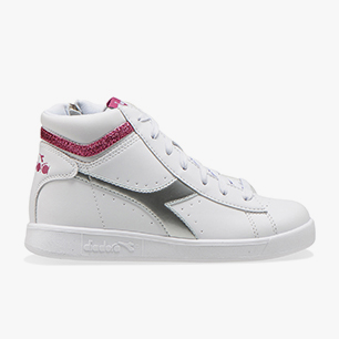 GAME P HIGH GIRL GS, WHITE/AZALEA, medium