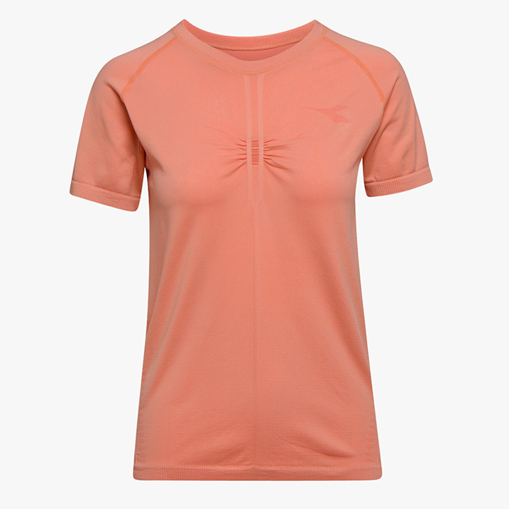 L. SS TECHFIT T-SHIRT, PINK PEACH, large