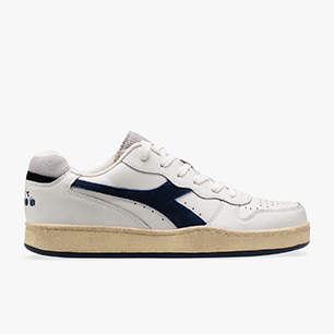 MI BASKET LOW USED, WHITE/BLUE DARK DENIM, medium