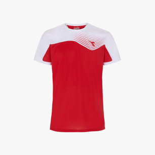 T-SHIRT COURT, TOMATO RED, medium