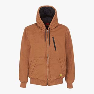JACKET PADDED CANVAS 13688:2013, BROWN TOBACCO, medium