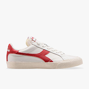 MELODY LEATHER DIRTY, WHITE/TANGO RED, medium