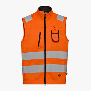 HV VEST ISO 20471, FLURESCENT ORANGE, medium