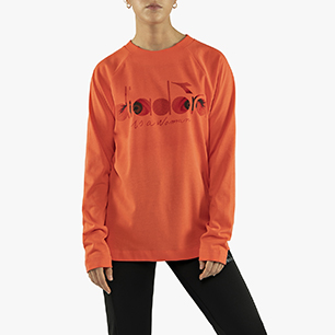 FLOWERS LONG SLEEVE T-SHIRT, PINK LIVING CORAL, medium