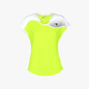 L. T-SHIRT COURT, FLUO YELLOW DD, medium