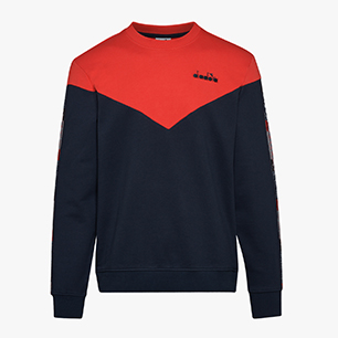 SWEATSHIRT CREW 5PALLE OFFSIDE V, DENIM BLUE, medium