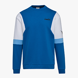SWEATSHIRT CREW DIADORA CLUB, MYKONOS BLUE, medium