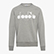 SWEATSHIRT CREW 5PALLE, LIGHT MIDDLE GREY MELANGE , swatch