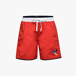 JU.BEACH SHORT FREGIO, POPPY RED, medium