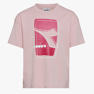 JU. T-SHIRT SS ELEMENTS, PINK PEACHSKIN, medium