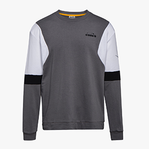 SWEATSHIRT CREW DIADORA CLUB, GRIS TEMPESTAD, medium