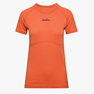L. SS SKIN FRIENDLY T-SHIRT, FALL ORANGE, medium
