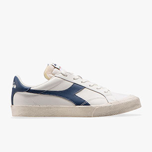 MELODY LEATHER DIRTY, WHITE/BLUE DARK DENIM, medium
