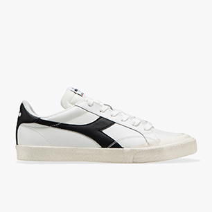 MELODY LEATHER DIRTY, WHITE /BLACK, medium