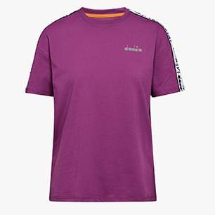 L. SS T-SHIRT PLUS BE ONE, VIOLET ZIRCON, medium