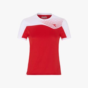 J. T-SHIRT COURT, TOMATO RED, medium