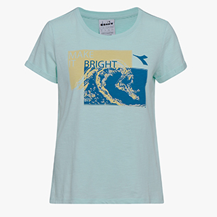 L.SS T-SHIRT GLOOM, FAIR AQUA, medium
