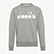 SWEATSHIRT CREW 5PALLE, LIGHT MIDDLE GREY MELANGE, swatch