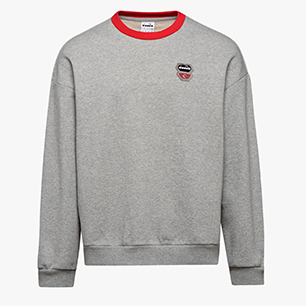 SWEATSHIRT CREW ATLETICO, LIGHT MIDDLE GREY MELANGE , medium