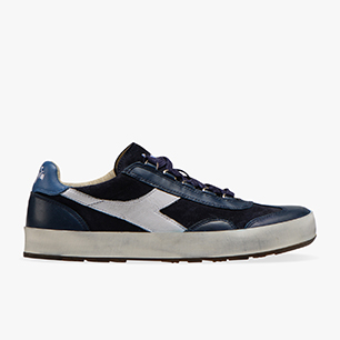 B.ORIGINAL H SUEDE STONE WASH, BLUE DENIM/WHITE, medium