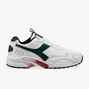 DISTANCE 280 LEATHER, WHITE/GREEN EVERGREEN, medium